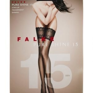 Falke Pure Shine 15 Den Stay Up Sukat