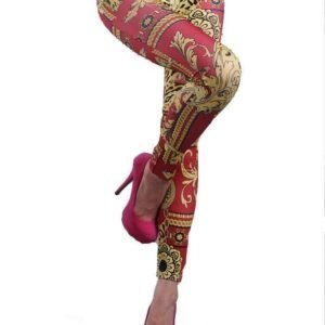 Fashion Leggings Red and gold