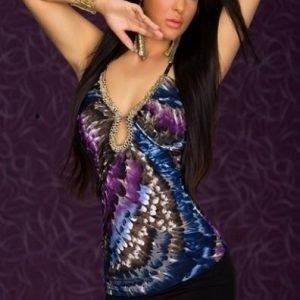 Feathery violetti toppi (Plus Size)