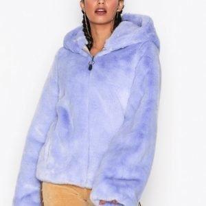 Fenty Puma By Rihanna Faux Fur Shawl Collar Jacket Tekoturkki Violetti