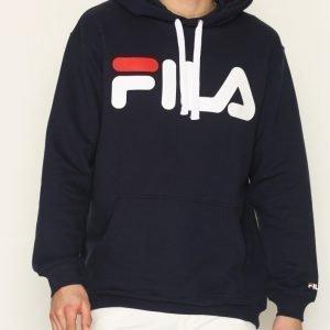 Fila Classic Logo Hoodie Pusero Black Iris