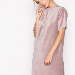 Fila Luna Long Tee Dress Loose Fit Mekko Woodrose