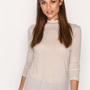 Filippa K 3 / 4 Sleeve Mock Neck Poolopusero Pebble