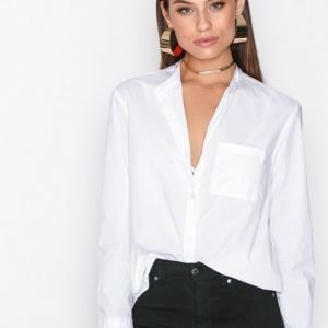 Filippa K Back Button Shirt Kauluspaita White