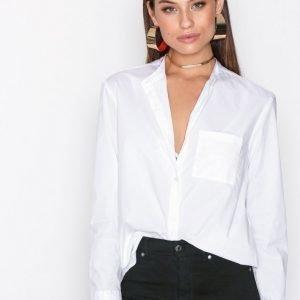 Filippa K Back Button Shirt Kauluspaita White