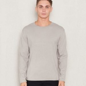Filippa K Cotton Cashmere Roundneck Chart Grey