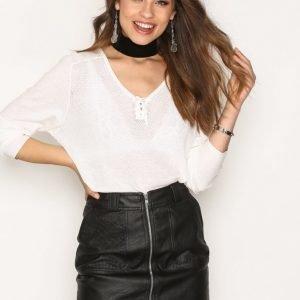 Filippa K Cotton V-Neck Pullover Neulepusero Offwhite