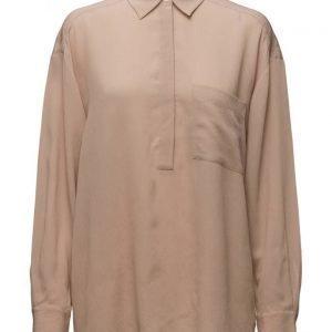 Filippa K Crinkle Silk Pull On Blouse pitkähihainen pusero