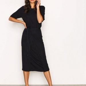 Filippa K Double Wrap Jersey Dress Loose Fit Mekko Navy