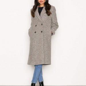 Filippa K Edine Shaggy Tailored Coat Pitkä Takki Grey
