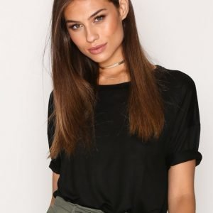 Filippa K Elbow Sleeve Swing Top T-Paita Black