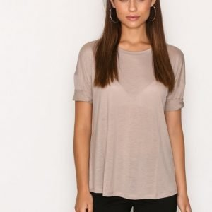 Filippa K Elbow Sleeve Swing Top T-Paita Fawn