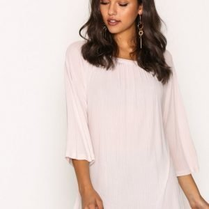 Filippa K Gathered Scoop Neck Blous Arkipaita Pebble