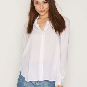 Filippa K High-Low Tencel Shirt Kauluspaita White