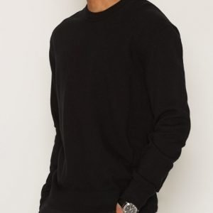 Filippa K M. Cotton Cashmere Knit Pusero Black