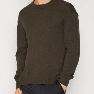 Filippa K M. Organic Cotton/Yak Sweater Neulepusero Black