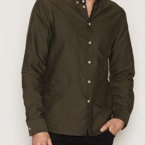 Filippa K M. Paul Oxford Shirt Kauluspaita Green