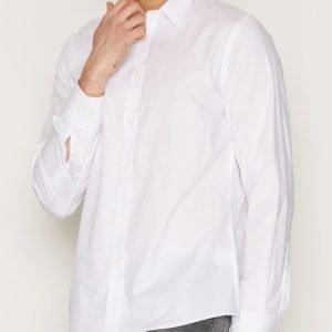 Filippa K M. Peter Herringbone Shirt Kauluspaita White