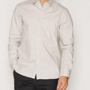 Filippa K M. Pierre Stretch Oxford Shirt Kauluspaita Grey