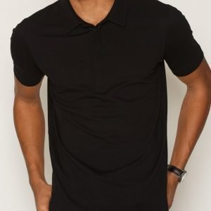 Filippa K M. Pique Poloshirt S/S Pikeepaita Black