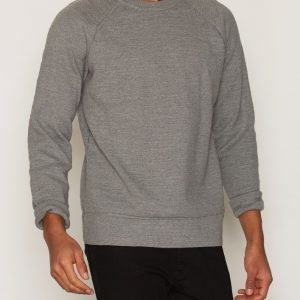 Filippa K M. Slub Knit Sweatshirt Pusero Grey Melange