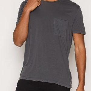 Filippa K M. Washed Tencel/Cotton Tee T-paita Dark Grey