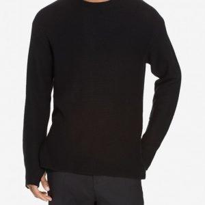 Filippa K M. Wool Cotton Sweater Neulepusero Black