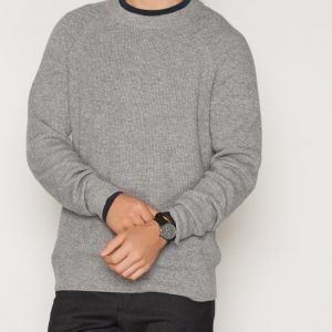 Filippa K M. Wool Linen Rib Sweater Neulepusero Grey