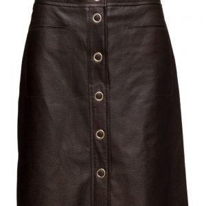 Filippa K Panel Button Leather Skirt mekko
