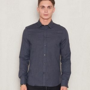 Filippa K Pierre Flannel Shirt Grey Melange