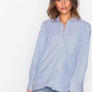 Filippa K Relaxed Stripe Shirt Kauluspaita White / Blue