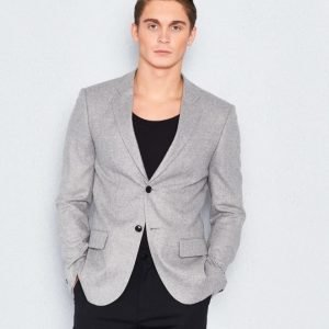 Filippa K Rick Herringbone Blazer Light Grey