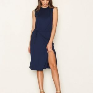 Filippa K Semi Wrap Dress Loose Fit Mekko Navy