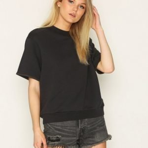 Filippa K Short Sleeve Sweat Svetari Blue Graphite
