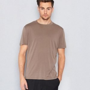 Filippa K Tencel Cotton Tee Greige