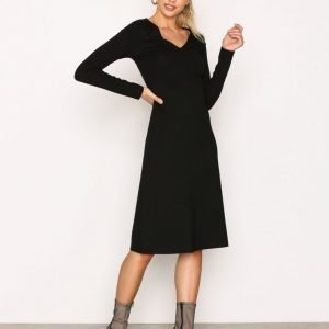 Filippa K V-Neck Dress Loose Fit Mekko Black