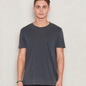 Filippa K Washed Tencel/Cotton Tee Dark Grey