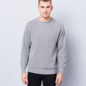 Filippa K Wool Linnen Rib Sweater Grey Melange