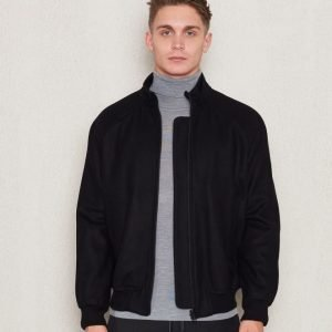 Filippa K Yaron Wool Bomber Jacket Black