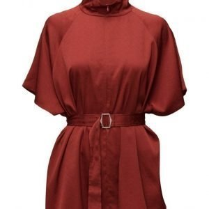 Filippa K Zip Collar Belt Top lyhythihainen pusero