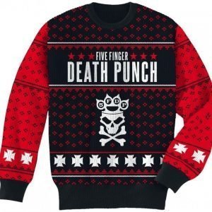 Five Finger Death Punch Holiday Sweater 2016 Neulepaita