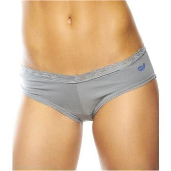 Flirty Undies Lace Tanga Kisses Grey