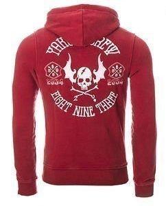 Flying Skull Hoodie Red