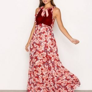 For Love & Lemons Blossom Tank Maxi Dress Maksimekko Cranberry