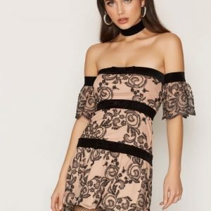 For Love & Lemons Clemence Off-Shoulder Skater Mekko Tiramisu