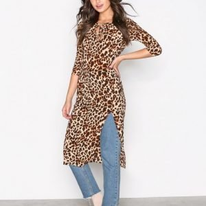 For Love & Lemons Leo Midi Dress Kotelomekko Cheetah
