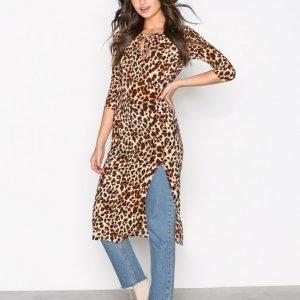 For Love & Lemons Leo Midi Dress Kotelomekko Cheetah