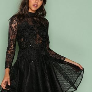 Forever Unique Emery Dress Skater Mekko Black