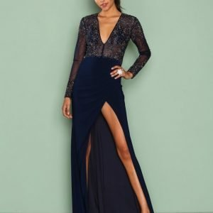 Forever Unique Lauren Dress Maksimekko Navy