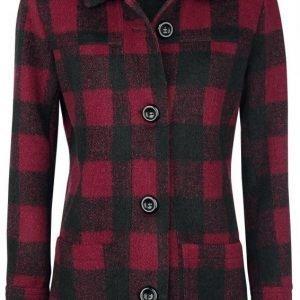 Forplay Checkered Coat Naisten Lyhyt Takki